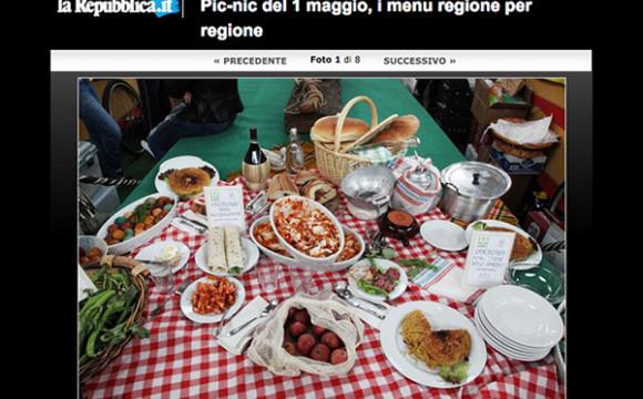 Pic-nic del 1 maggio, i menu regione per regione.